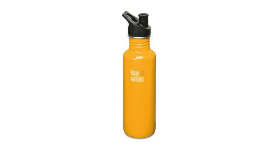 Klean Kanteen Classic Drikkeflaske medt Sport Cap, 800ml gul